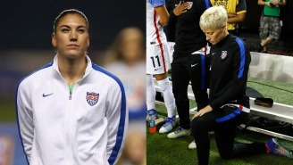 Why People Are Calling Hope Solo A Liar For Claiming Megan Rapinoe 'Bullied' Players Into Kneeling For The Anthem