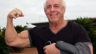 Ric Flair Hilariously Responds To People Convinced He Was Getting Busy With Woman On Train In Viral Photo