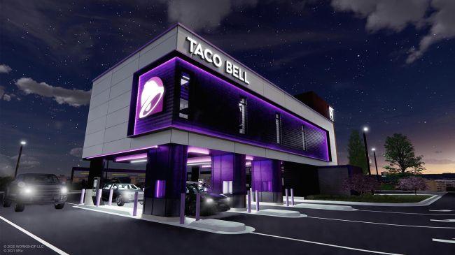 El futurista Taco Bell Defy es un nuevo concepto de restaurante que se inaugura en Brooklyn Park, Minnesota.