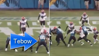 A Second Video Of Tim Tebow's Terrible Blocking Skills During Preseason Game Goes Viral