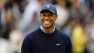 Of Course Tiger Woods Hit A Perfect Drive With The Happy Gilmore Swing