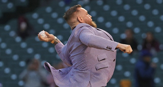 Conor McGregor Explains Why His First Pitch Was Better Than 50 Cent