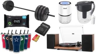 Daily Deals on Amazon: NFL Tumblers, Weight Sets, Turntables And More!