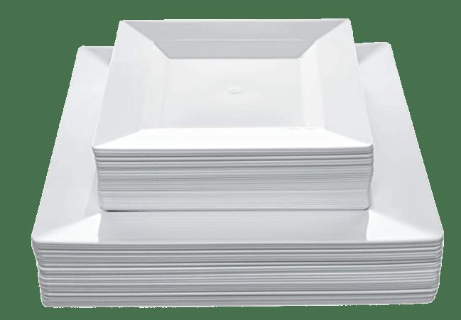 Disposable Square Plastic Plates