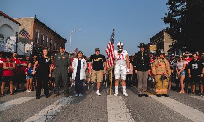 Nebraska Cornhuskers 9/11 uniforms Damian Jackson