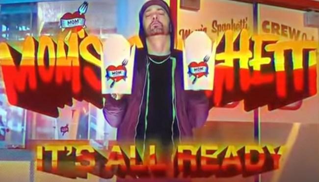 Eminem Mom's Spaghetti restaurant commercial Detroit