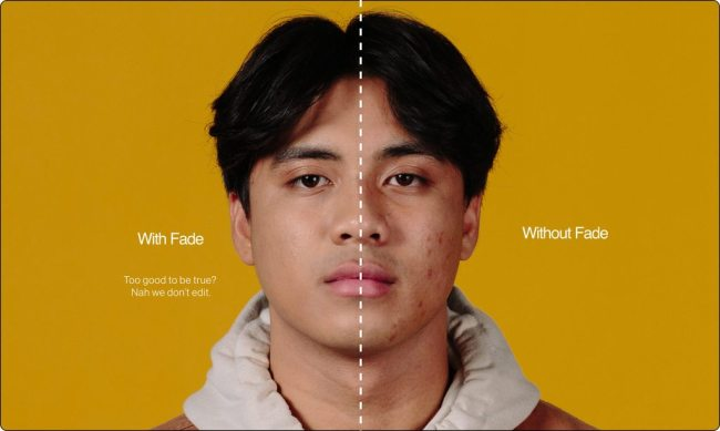 FRONTMAN - with and without Fade