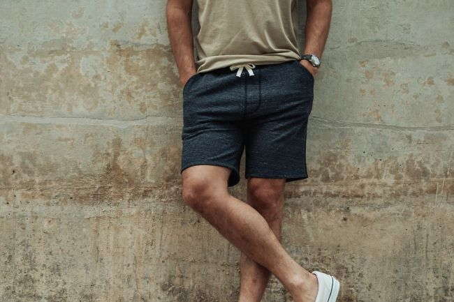 flint and tinder french terry sweat short