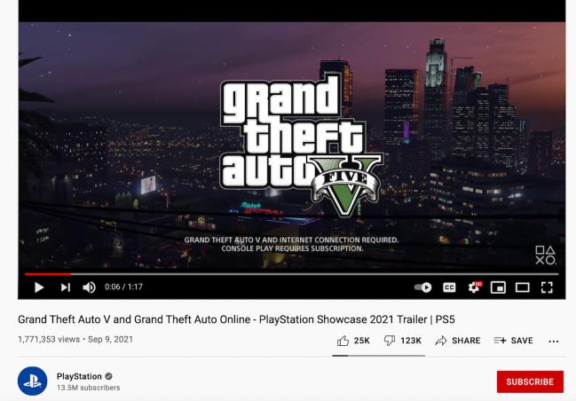 GTA V urăște trailerul de nouă generație