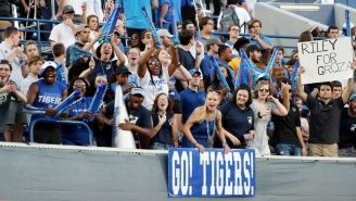 Embarrassing Video Shows Memphis Fan Get Manhandled By Security After Trying To Storm Field