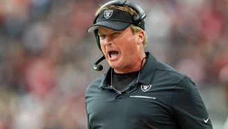 Raiders HC Jon Gruden Gets Caught On Hot Mic Cursing Out Ref With A Ton Of F-Bombs During Broadcast