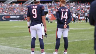 Video Shows Bears Backup QB Nick Foles Saying 'Offense Just Isn't Working' On The Sidelines During Team's Blowout Loss Vs Browns