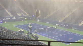 Wild Video Shows Pouring Rain INDOORS At The US Open As Hurricane Ida Passed Through NYC