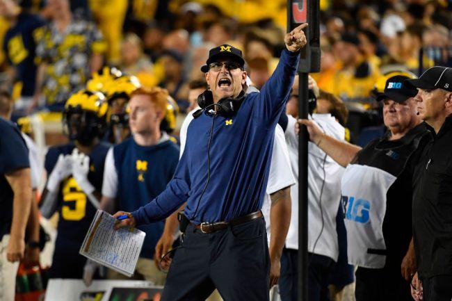 Jim Harbaugh Michigan Beat Ohio Drill
