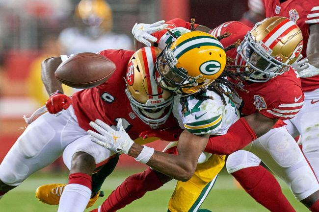 Davante Adams Hit San Francisco 49ers Green Bay Packers Sunday Night Football