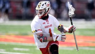 The 2021 D1 Lacrosse Player Of The Year Scored SEVEN Touchdowns In His College Football Debut