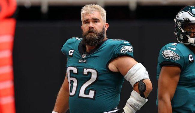 Jason Kelce Bleach Blonde Hair Bet Zach Ertz Philadelphia Eagles