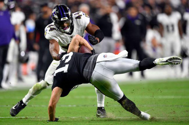 Hunter Renfrow Las Vegas Baltimore NFL Complaint Hit