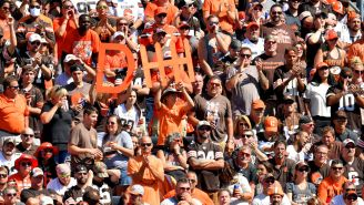 Wild Brawl Breaks Out Between Cleveland Browns Fans During Tailgate At Home Opener
