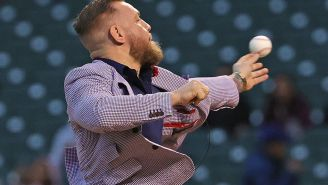 Conor McGregor Throws The Worst First Pitch In History And The Internet Let's Him Know