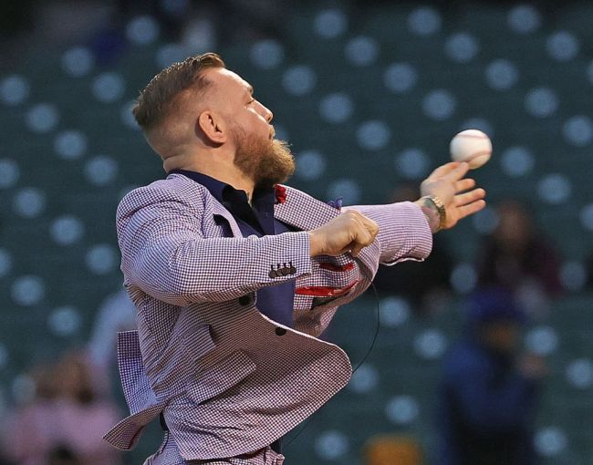 Reactions to Conor McGregor worst first pitch at Chicago Cubs game.