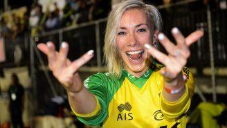 WATCH: Caroline Buchanan Becomes First Woman To Throw A Front-Flip On A Mountain Bike