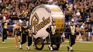 Notre Dame Is Causing The World's Largest Bass Drum To Miss Its First Performance In 41 Years