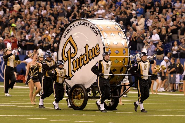 Purdue World's Largest Drum Marching Band Notre Dame