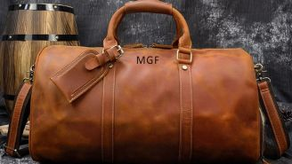 These Full Leather Duffle Bags Are Perfect For A Weekend Getaway