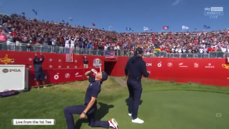 Justin Thomas And Daniel Berger HOUSING Beers At The Ryder Cup Is Patriotism At Its Finest