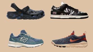 Kicks O'Clock: Post Malone Crocs, New Balance x Levis, Nike Dunk Zebras, And More