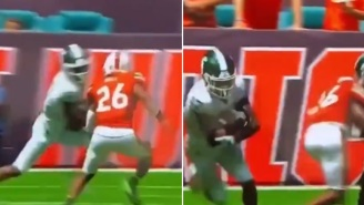 Miami Hurricanes' Safety Gurvan Hall Jr. Has Brain Fart And Embarrassingly Misses Easy Tackle Vs Michigan State