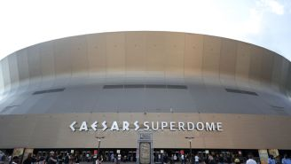 The Superdome Roof Caught Fire Today And The Image Of One Man's Attempt To Extinguish It Proves We Are Ill-Prepared For Nature's Wrath