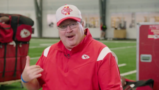 Eric Stonestreet Hilariously Pranked Patrick Mahomes With A Fake Cricket And Took Over Chiefs Practice