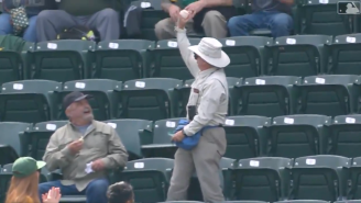 WATCH: Oakland A's Fan With Remarkable Drip Catches Foul Ball In Fanny Pack