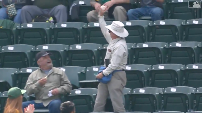 Oakland A's Fanny Pack Foul Ball Catch