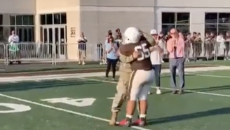 This Military Father Surprising His Son At His High School Football Game Will Give You Goosebumps