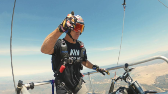This Daredevil Doing Backflips Out Of A Helicopter Is The Craziest Thing You Will See Today