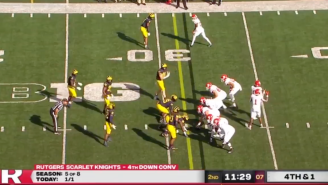 Rutgers Ran A Terrible Trick Play On Fourth Down And It Couldn't Have Been A Bigger Fail