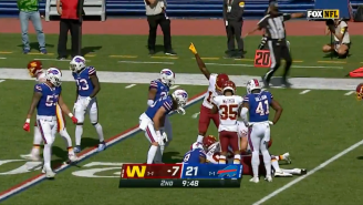 Kicker Dustin Hopkins Somehow Just Recovered His Own Kickoff And It Wasn't An Onside Kick