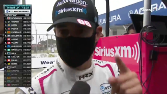 IndyCar Driver Helio Castroneves Went On An Epic NSFW Tirade After A Collision In Warmups