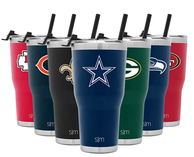 Simple Modern Licensed NFL Tumbler with Flip Lid and Straw