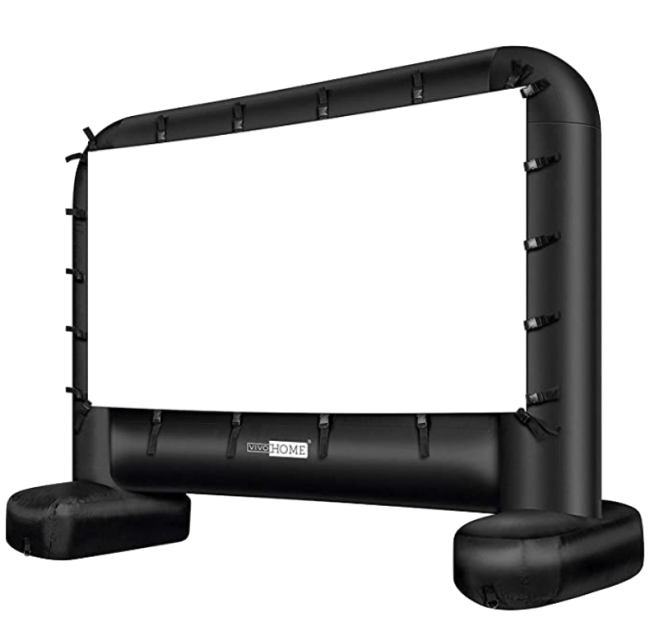 VIVOHOME 17 Feet Indoor & Outdoor Inflatable Blow Up Mega Movie Projector Screen