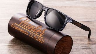 We're Digging These Customizable Polarized Wooden Sunglasses