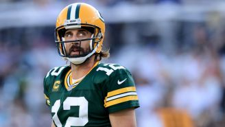 Aaron Rodgers Says The 'Double Nut Shot' He Took Caused His First Interception Against The Saints