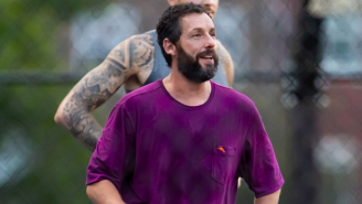 Adam Sandler Plays A Pickup Game With NBA Players, Hits A Jumper In Style
