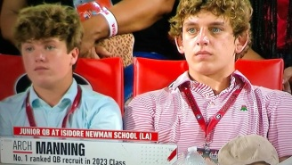 Arch Manning Makes Appearance At UGA-South Carolina Game And Georgia Fans Tried Their Best To Recruit Him