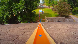 Backyard Hot Wheels Track Took 4 Months To Build For This Awesome Video