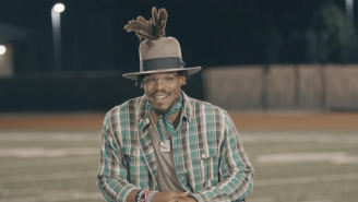 Social Media Reacts To Cam Newton's Hat In Interview About Being Cut By Patriots