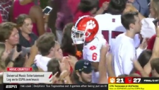 Clemson's E.J. Williams Gets Into Heated Altercation With NC State Fans On The Field
